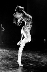 Black and white photo of a dancer from ACS Dance Centre